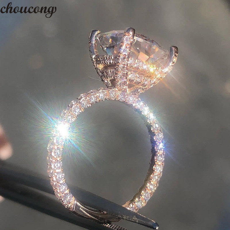 choucong Vintage Ring Rose Gold Filled 925 silver AAAAA Zircon stone Party Wedding Band Rings For Women men Fashion Jewelrychoucong Vintage Ring Rose Gold Filled 925 silver AAAAA Zircon stone Party Wedding Band Rings For Women men Fashion Jewelry