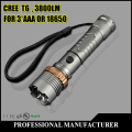 CREE XML T6 3800LM LED Light Rechargeable Flashlight Torch Lantern For Hunting AC or EU+Car Charger+Bicycle Clip