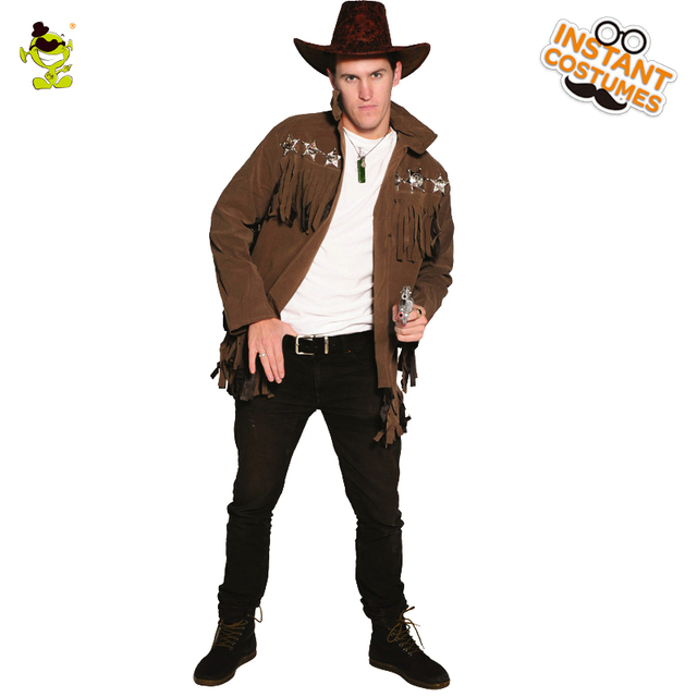 422a8e991d Los adultos oeste vaquero Cosplay disfraz para hombres ropa de rendimiento  fiesta de Halloween Cosplay vaquero