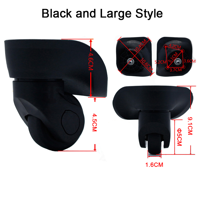 Hot 1pair (Left & Right) Luggage Suitcase Replacement 360 Spinner Wheels Repair Accessory 1pair right