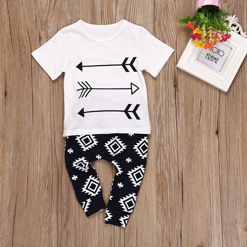 LONSANT Children Clothing Set Babys Sets Childrens Kids Summer Boy Outfit Sports Suit Set T-shirt+Long Pants Drop Shipping