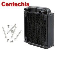 Centechia 1Pc Black Aluminum Computer Cooler Radiator Water Cooling Cooler Fans For CPU 80mm