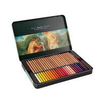 Water-soluble colored pencil color fill pen iron box color lead crayon de couleur