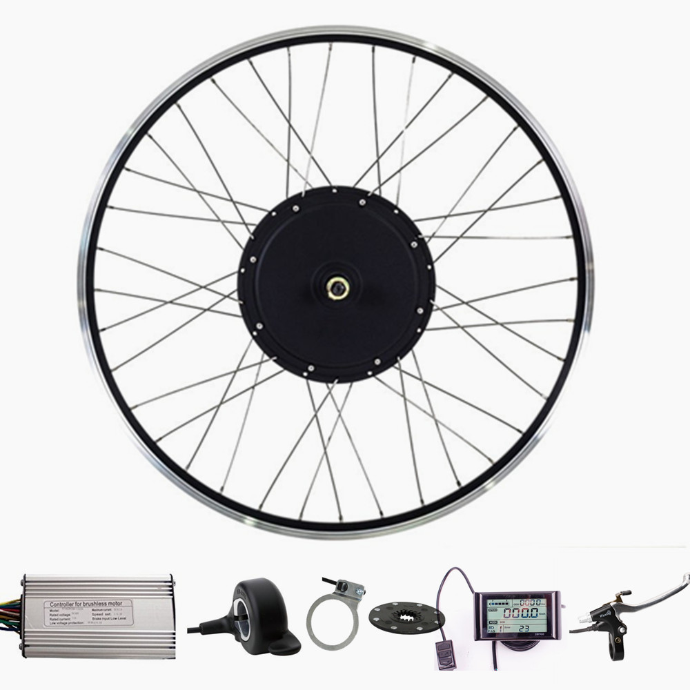 48v Electric Bicycle Kit 1000W rear Hub Motor Wheel Electric Bike Conversion Kit With LCD Display e bike 24v 800w motor with disc brakes hub electric bicycle ebike conversion kit front or rear wheel new details about