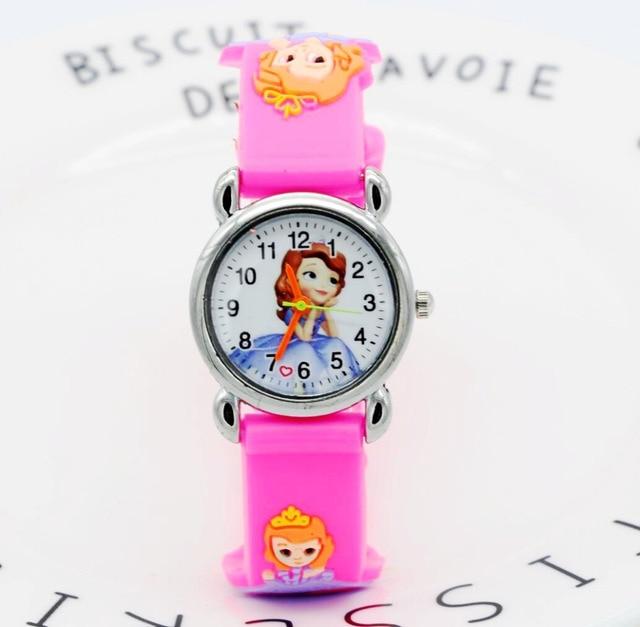 New 3D fashion Princess Soph cartoon watch for children girls silicone digital w