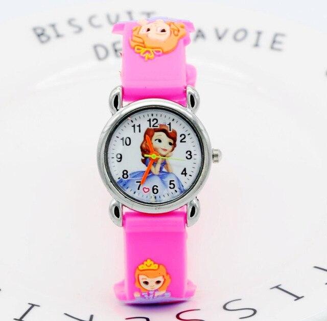 d2204e8c3d6 Nova 3D moda Princesa Sophie relógio dos desenhos animados para crianças  meninas de silicone relógios digitais