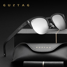GUZTAG Unisex Cat Eye Semi-rimless Men Aluminum Sunglasses Polarized Mirror Male Sun Glasses Women For Men Oculos de sol G9812