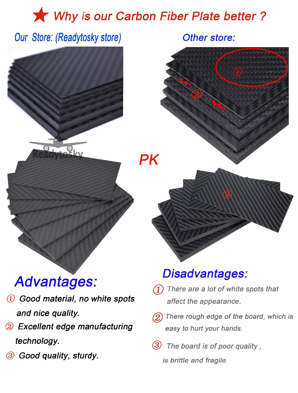 Image 5 - 400mm X 200mm Real Carbon Fiber Plate Panel Sheets 0.5mm 1mm 1.5mm 2mm 3mm 4mm 5mm thickness Composite Hardness Material-in Parts & Accessories from Toys & Hobbies