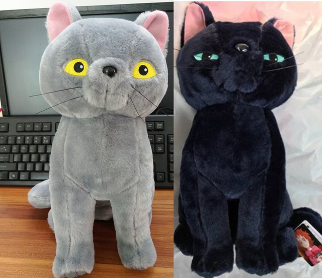 Kawaii Cute Cat Plush Dolls Mary And The Witch S Flower Grey Black