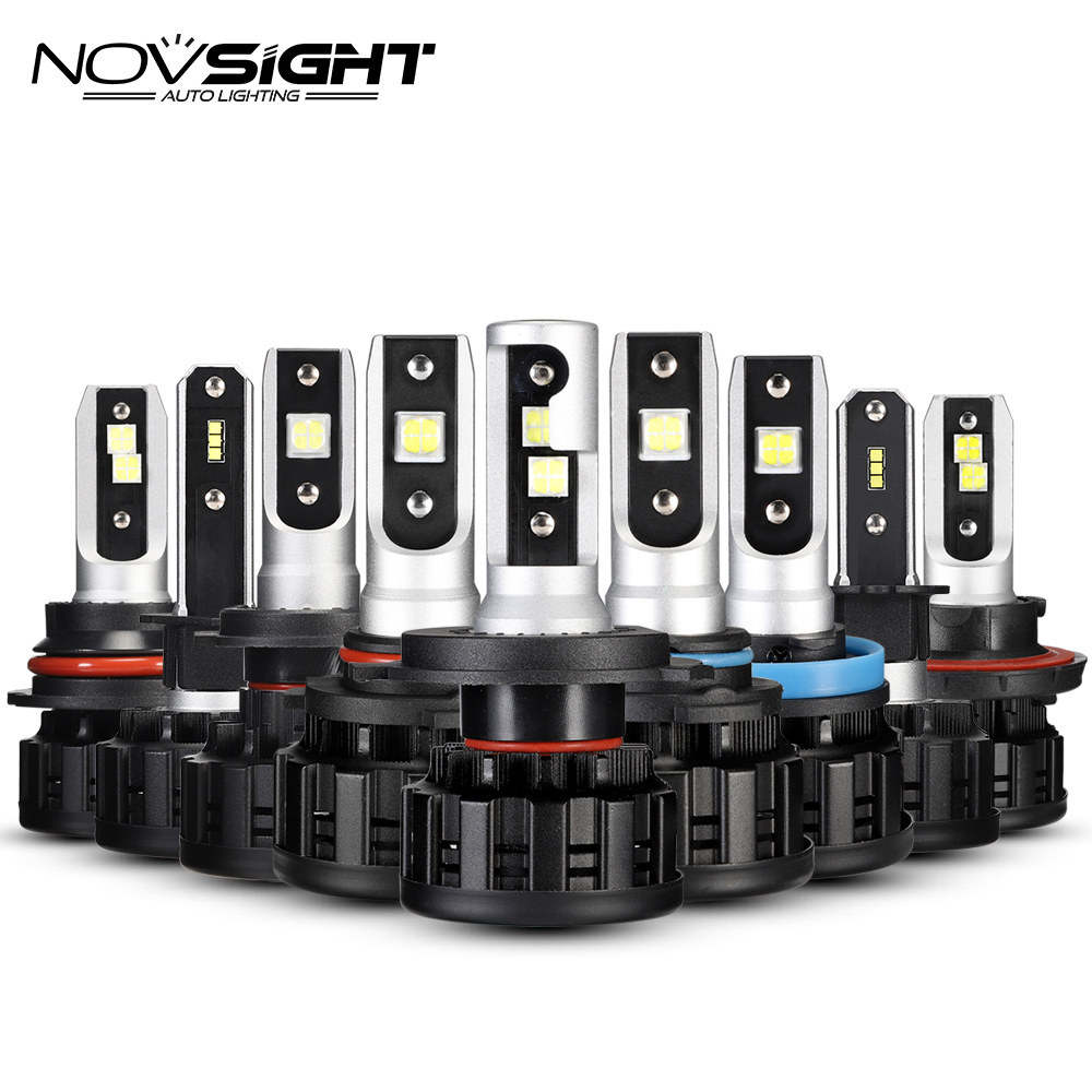 NOVSIGHT H4 H7 H11 H1 CSP LED 9005/HB3 9006/HB4 H13 9007 H3 18000Lm Car Headlight Bulbs Fog Lights White 6500K 12V 24V