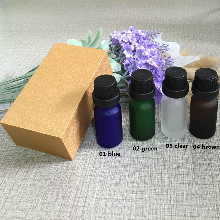 4pcs 10ml High-grade frosted essential oil bottle with wooden box packing black cap glass bottle,lotion cosmetics powder jar cosmetics 50g bottle chinese herb ligusticum chuanxiong extract essential base oil organic cold pressed