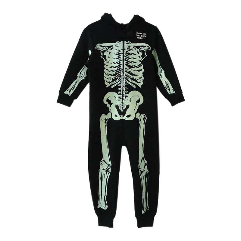 2c688753e Online Shop Infant Unisex Baby Girl Boy Skeleton Hooded Zipper ...