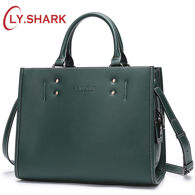 LY.SHARK Ladies' Genuine Leather Handbag Women Bag Messenger Crossbody Bags For Women Green Shoulder Bag Female Fashion Tote Bag 2018 fashion female shoulder bag canvas women handbag vintage messenger bag crossbody bags leisure tote women bag