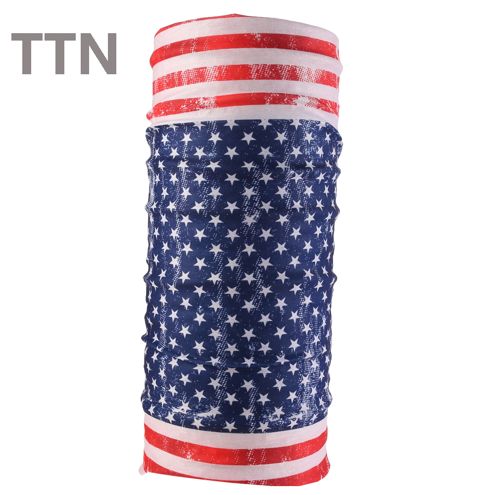 Multifunctional Seamless Tubular Magic Flag Bandanas Tube Scarf Gift for Baby Headband Hijab