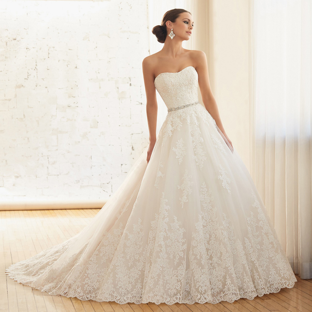 Online Buy Wholesale princess strapless wedding dresses with ...