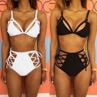 One Set New Sexy Women Bandage Bikini Sets Hot Lace Up Strappy Summer Push Up Swimwear