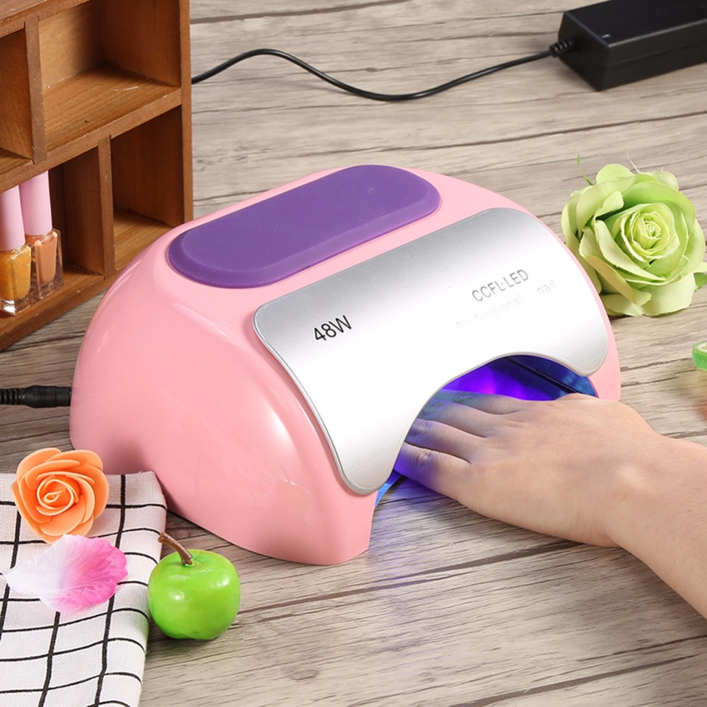 Clearance! 48W CCFL UV Gel Lamp LED Light Nail Dryer For Curing Nail Polish Gel Nail Art Dryer Auto-induction Nail Manicure Tool noq 48w ccfl uv led nail light dryer for curing gel polish lamp for nails manicure machine nail art salon equipment