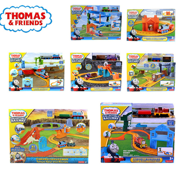 Original Brand Thomas Carros Track Model Cars Train Kids Plastic Metal Toy-cars- Thomas and Friends Toys For Children Juguetes эксклюзиные паровозики в асст thomas and friends