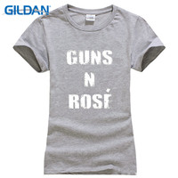 T Shirt Brand 2017 Male Sleeve Gildan Women'S Short Sleeve Zomer Crew Neck Guns N Rose Trendy Drinking Champagne Weekend T Shirt