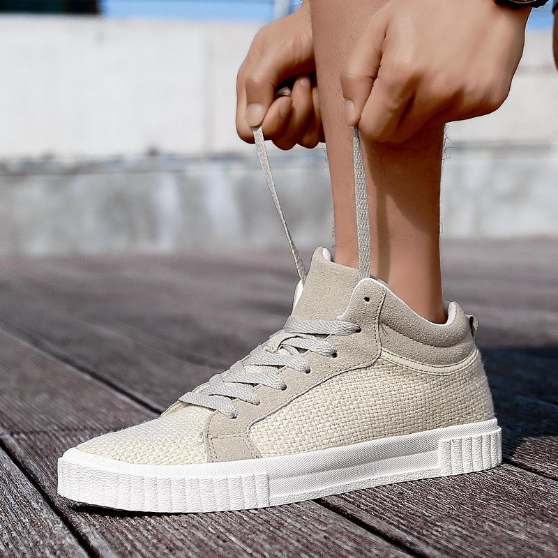 Sapatos Lace Primavera Respirável Dos Brancos up Homens see outono 2018 See Moda top Chart High Nova De Apartamentos Lona Casuais Chart Alpercatas Preto qIx4xwvf5