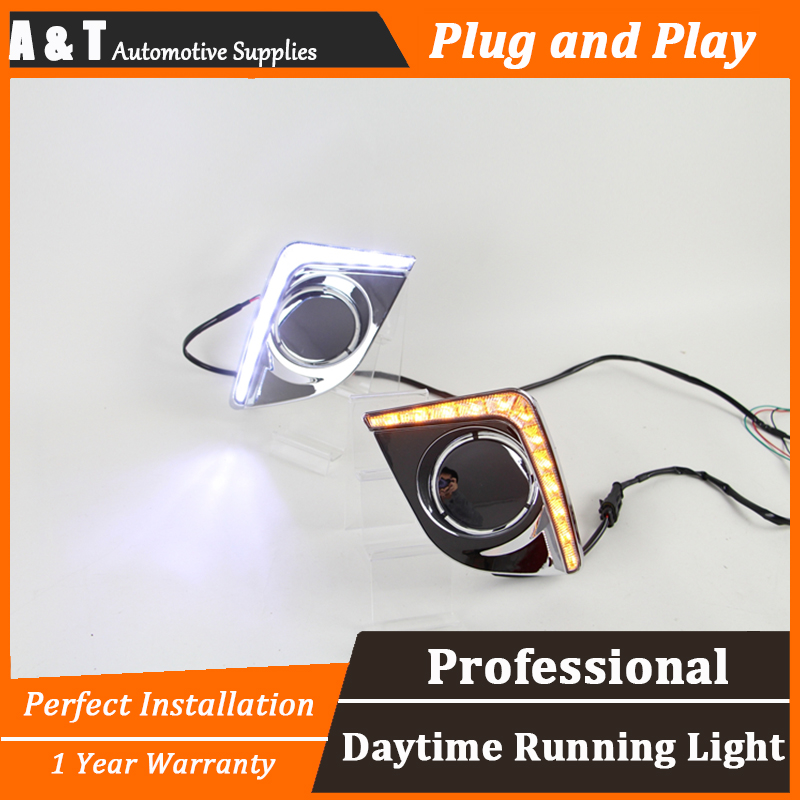 car styling For Toyota Levin LED DRL For Levin High brightness guide DRL led fog lamps daytime running light With steering lamp qvvcev 2pcs new car led fog lamps 60w 9005 hb3 auto foglight drl headlight daytime running light lamp bulb pure white dc12v