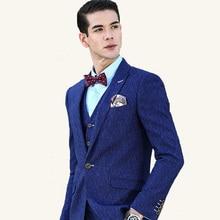 Business Wedding Men Slim Fit Suit Sets (Jacket+Vest+Pants)