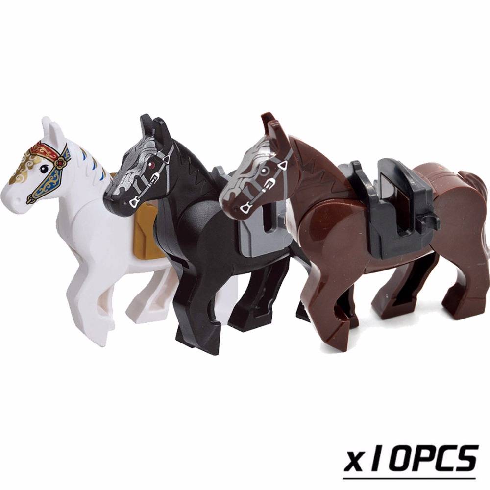 5/10pcs/lot Knight Nazgul Horse 6cm Building Blocks Bricks Accessories Battle Steed Gifts Toys for Children single sale myth unicorn toys lord of the rings hobbit horse nazgul with robe bricks building blocks children gift toys x0158