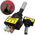 4 Pçs/lote 12 V 20A Car Auto LED Red Light Alternar Rocker Switch SPST 3Pin ON/OFF VEQ04 P10