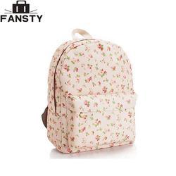 2016 Лето, Новое Для женщин рюкзак женский холст цветочные студенты сумка с цветочным принтом элегантный дизайн для девочек школьная сумка