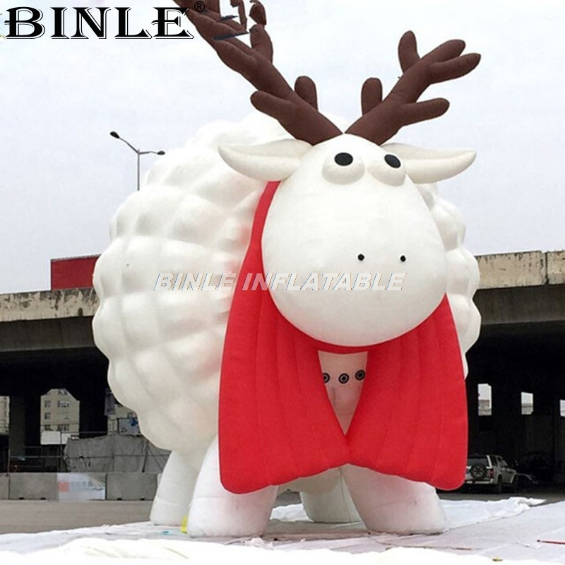 Unique design giant inflatable sheep large inflatable animal for advertising