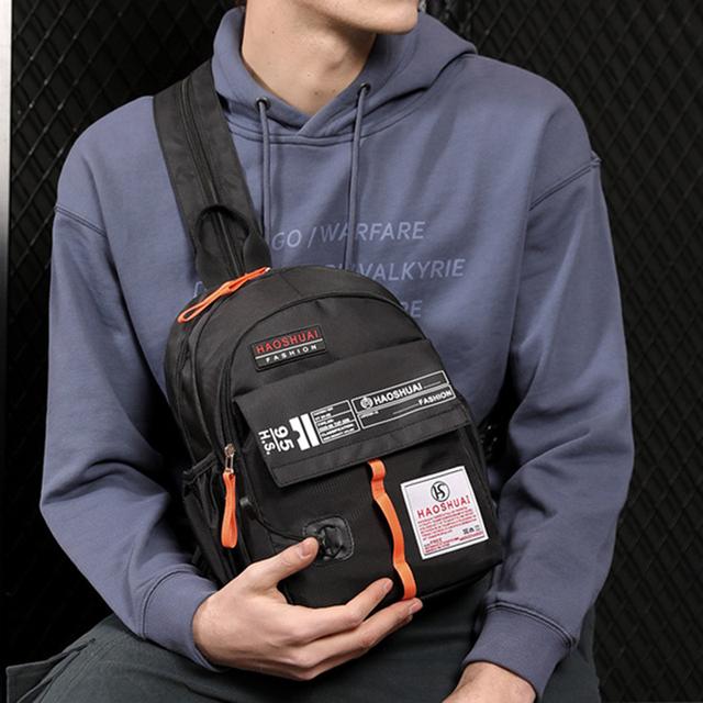 Nylon Men's Backpack Travel Sling