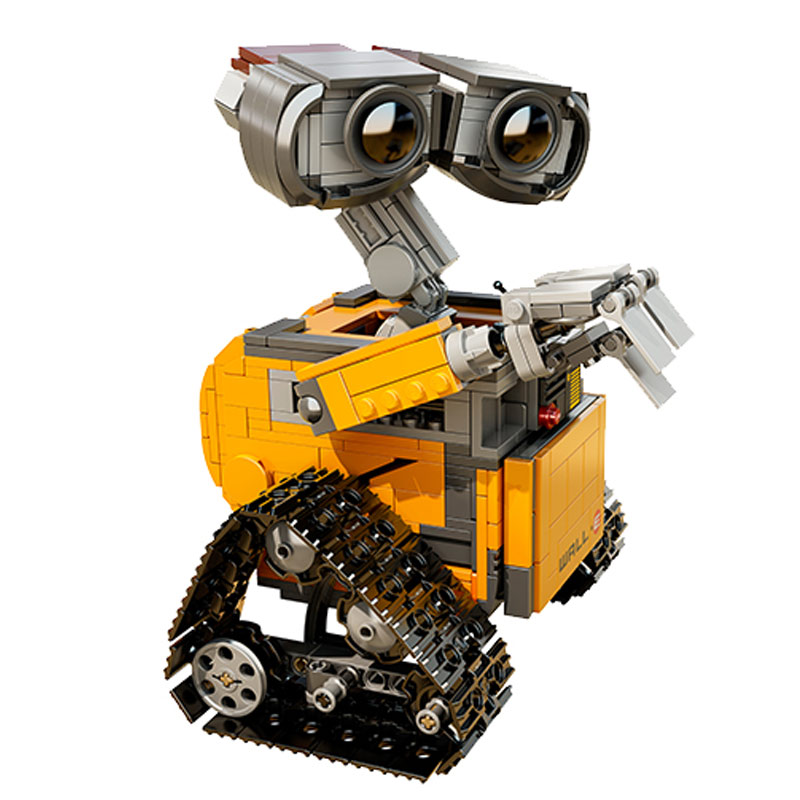 Idea Robot WALL E Building Set Kits Toys Educational Bricks Blocks Bringuedos 21303 for Children DIY Gift dropshipping wall e robot model building kits assemble toy idea robot girls boys toy birthday gift compatiable with lego kid gift set