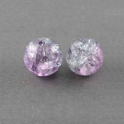 8 rodé perles dans prune 12 MM