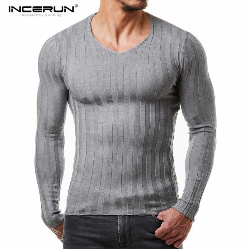 2020 New Winter Brand Clothing Mens Long Sleeve Knitted Homme Fitness Bodybuilding Muscle Gyms Men Tops