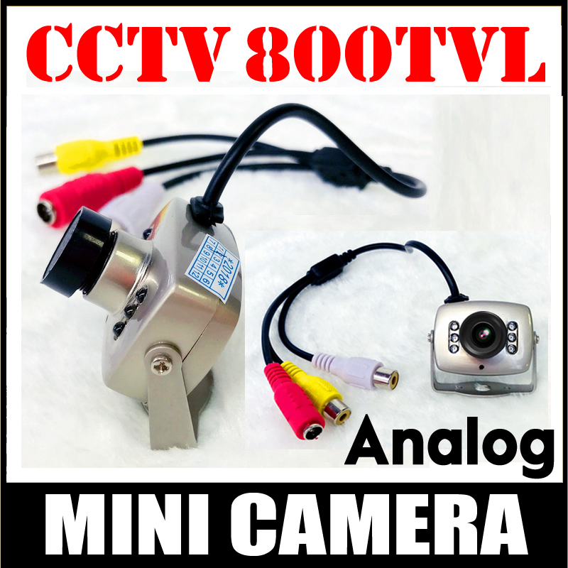 World Cup Sale 6Led Night Vision 700TVL CCTV HD mini Camera AV Audio MIC Metal monitoring products Surveillance micro vidicon цена и фото