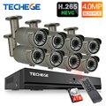 Techege H.265 8CH 5MP PoE NVR 8 шт. 2,8-12 мм Maunal объектив 4.0MP IP Камера POE Системы P2P облако видеонаблюдения Системы Поддержка PC мобильный вид