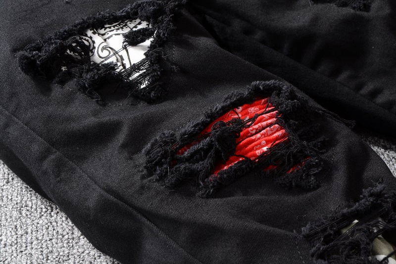 Royles! Men's Distressed Black Jeans  2