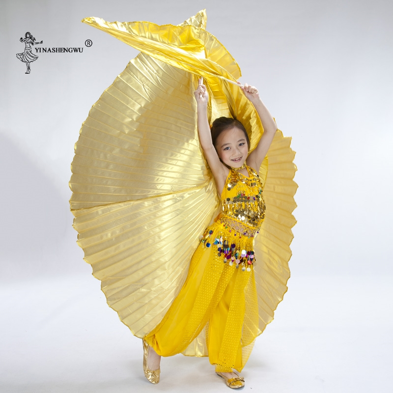 Kids Belly Dance Wings High Quality Red Silver Gold Children's Belly Dance Isis Wings For Kids On Sale Boys And Girls No Sticks