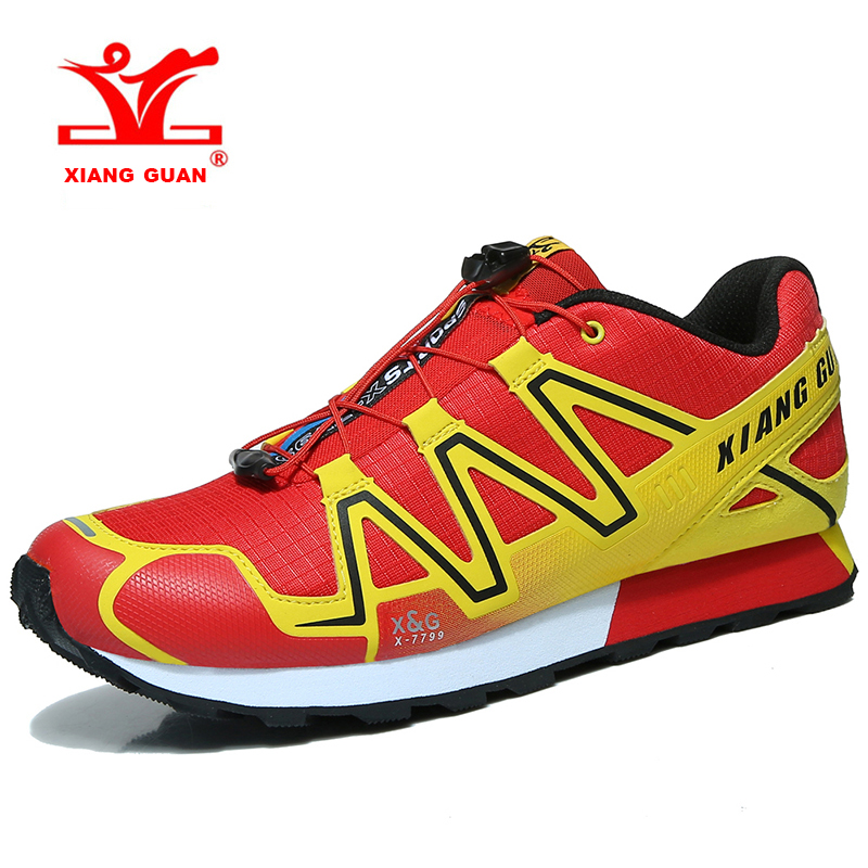2018 XIANG GUAN Men Trail Running Shoes Breathable Light Weight Outdoor Sports Shoes Walking Shoes For Male Free Shipping X-7799