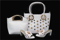 White Italian Designs Shoes And Bag Set African Style In High Quality 3 In 1 Bags