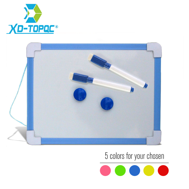 20 5 15 6cm Magnetic Kids Whiteboard Dry Wipe Board Colors Frame Mini Drawing White