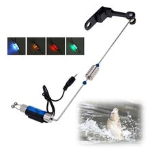 Fishing Alarm Iron Fishing Bite Hanger Swinger LED Illuminated Indicator Fishing Tackle Tools