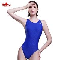 Yingfa Fina Approved One Piece Training Competition Waterproof Sharkskin Resistant Women S Swimwear Plus Size Bathing