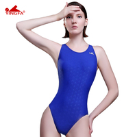 Yingfa Fina Approved One Piece Training Competition Waterproof Sharkskin Resistant Women S Swimwear Plus Size Bathing