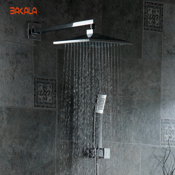 BAKALA  8 inch Bathroom rain  shower faucets Diamond Designs ABS head hand shower for Bath Showering System  4 1