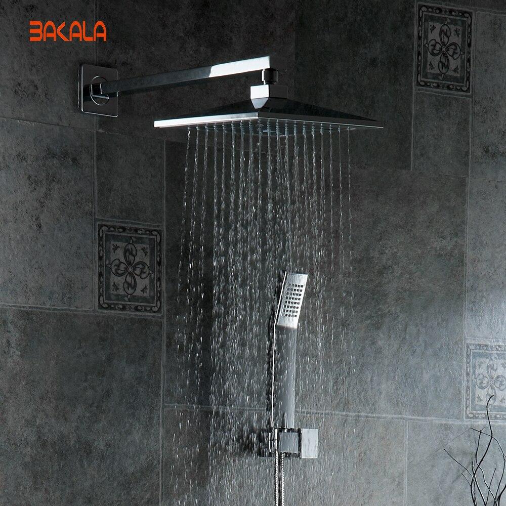 Aliexpress.com : Buy BAKALA 8 inch Bathroom rain shower ...