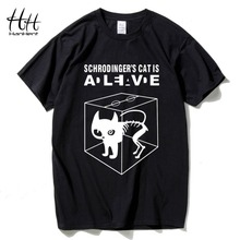 HanHent 2017 Men's Fashion Tshirts Schrodinger's Cat The Big Bang Theory Cotton Short Sleeve O-neck Tops Tees Summer T-shirt
