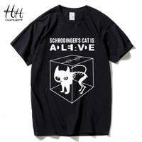 2015 Men S Fashion Tshirts Schrodinger S Cat The Big Bang Theory Cotton Short Sleeve O
