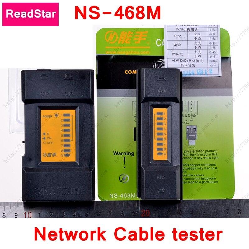 Readstar ns-468m Многофункциональный сетевой кабель тестер RJ45 RJ11 RJ12 Разъем Кабельный тестер Бесплатный подарок 9 В площади батареи ce rohs