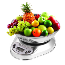 Quality Stainless Steel Kitchen Scales Precision Electronic Scale Silver Baking Household Cooking Tools 5KG * 1g Bestsellers